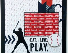 Baseball scrapbook page 12x12 scrapbook page by ohioscrapper