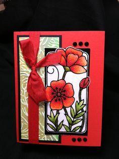 elizabeth design crafts | Elizabeth Craft designs using Cool Highlight Glitter and then colored ...