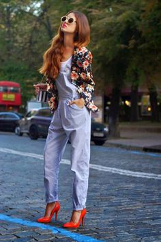Street Scene Vintage: {How To Wear}: Overalls- take overalls from the typical dungaree look to a cutesy romper/feminine style