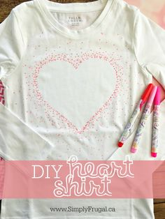 DIY Heart Shirt (for Valentines Day) http://www.lavahotdeals.com/ca/cheap/diy-heart-shirt-valentines-day/62094