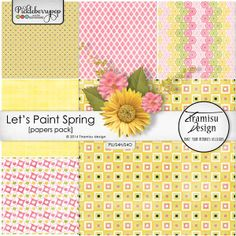 Available for just $1 during Pickleberrypop's PICKLE BARREL PROMO through March 24 at 11:59 p.m. EDT! Shop fast to save BIG! Let's Paint Spring papers pack vol.2 by Tiramisu design