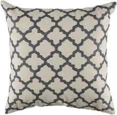 White/Charcoal Moroccan pattern Keyes Decorative Pillow - Free shipping from Home Decorators until 4/9/12.