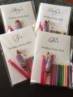 Personalised children s wedding activity pack