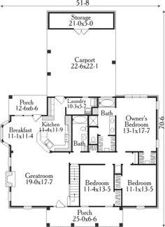 Farmhouse Style House Plan - 3 Beds 2 Baths 1726 Sq/Ft