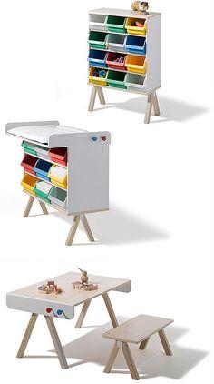 Mueble infantil Adaptable, evolutivo de Richard Lampert