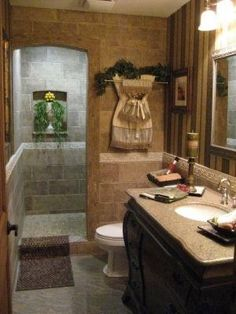 Walk in shower for small bathroom. Something to consider for our guest bathroom, or if we have a small bathroom. Luxury look with a small space. Bad Inspiration, Bathroom Inspiration, Bathroom Renos, Master Bathroom, Bathroom Ideas, Bathroom Designs, Shower Bathroom, Bathroom Plans, Modern Bathroom