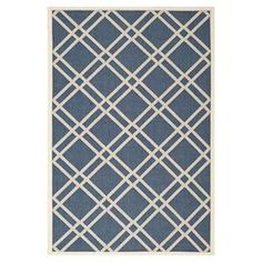 Add a sense of contemporary elegance to your living room or conservatory with this striking rug, featuring a crosshatch pattern in navy and beige. Suitable for use both indoors and out, team with a concrete bench and industrial metal lamps to complete the look.   Product: RugConstruction Material: PolypropyleneColour: Navy and beigeFeatures: Power-loomedCrosshatch patternSuitable for indoor and outdoor usePile Height: 0.63 cm Dimensions: 170 cm x 121 cmNote: Please be aware that actual ...