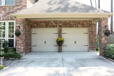 From My Front Porch To Yours: Using New Hardware, turn plain Garage door into a carriage garage door!