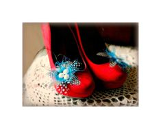 Etsy の Something Blue Shoe Clips. Turquoise Teal. by sofisticata