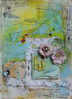 frog dog studio: How to create a textured art journal page