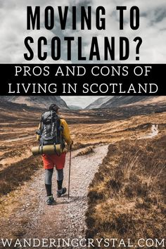 The Pros and Cons of Living in Scotland Thinking of moving to Scotland? Living in Scotland has its pros and cons. Check them out to see if you want to live in Edinburgh, Glasgow, Inverness or anywhere else in the country! Mudarse a Escocia! Übersiedlung n Moving To Scotland, Scotland Travel, Ireland Travel, Scotland Trip, Galway Ireland, Cork Ireland, Ireland Vacation, The Road, Jack Kerouac