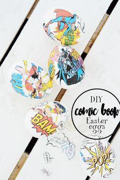 POW! | DIY COMIC BOOK EASTER EGGS