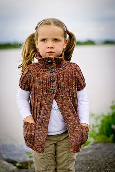 Ravelry: Cinnamon knitting pattern by Elena Nodel - short sleeve cardigan sweater for children sizes years Knitting For Kids, Crochet For Kids, Baby Knitting, Knit Crochet, Ravelry, Modelos Fashion, Knitting Patterns, Kids Outfits, Kids Fashion
