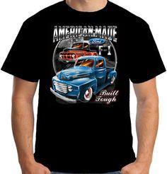 Velocitee Mens Premium T-Shirt Ford F1 Pick Up Truck Rat Hot Rod V8 A17948 #VelociteeSpeedShop