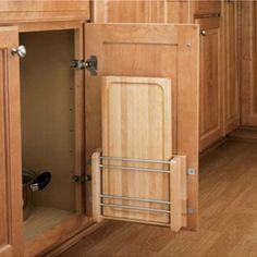 Door Mount Cutting Boards, Rev-a-Shelf 4DMCB Series-Cutting Board Storage w/Polymer Cutting Board - Rockler Woodworking Tools
