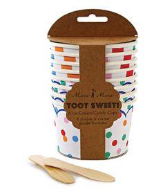 Look at this #zulilyfind! Meri Meri Toot Sweet Candy/Ice Cream Cup - Set of 16 by Meri Meri #zulilyfinds