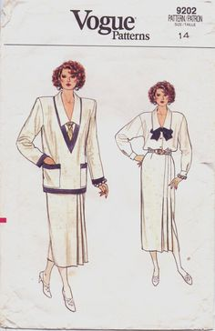 80s Vogue Pattern 9202 Great Gatsby Inspired Womens by CloesCloset, $12.00