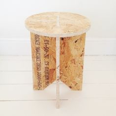 Good+Brave OSB stool table Furniture Projects, Wood Projects, Diy Furniture, Woodworking Projects, Osb Plywood, Plywood Chair, Osb Board, Bookcase Shelves, Shelving