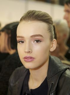 Backstage at Maticevski with hair by Jayne Wild for ghd (image by beautydirectory)