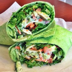 Spinach Wrap with Veggies