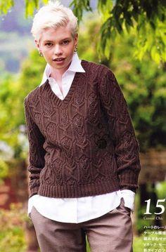 Пуловер с v-образным вырезом.