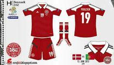 Denmark home kit for Euro 2012.
