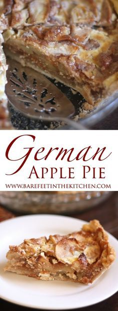 German Apple Pie is like no other apple pie you've ever tasted! - get the recipe at barefeetinthekitchen.com