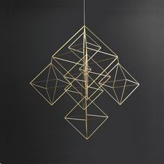 Large Himmeli No. 2 / Modern Hanging Mobile / Geometric Art Sculpture / Minimalist Home Decor from HRUSKAA on Etsy. Saved to Epic Wishlist. Geometric Sculpture, Geometric Shapes, Sculpture Art, Hanging Mobile, Minimalist Home Decor, Plant Holders, Decoration, Geometry, Interior Decorating