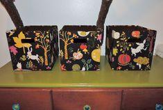caixas decoradas com tecido