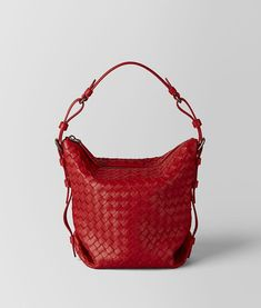 Bottega Veneta® - CHINA RED INTRECCIATO NAPPA OSAKA BAG ‎ b6b0f48f2f591