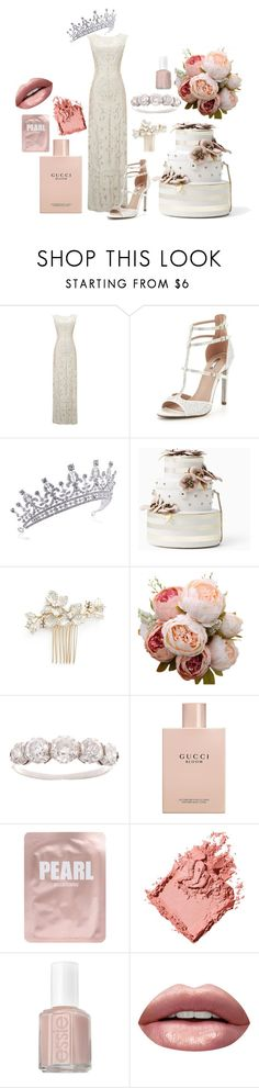 """""""114"""" by mrsyourstruly ❤ liked on Polyvore featuring Phase Eight, Carvela, Kate Spade, Wedding Belles New York, Gucci, Lapcos, Bobbi Brown Cosmetics, Essie and Huda Beauty"""