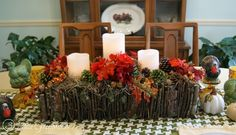 Branch Basket Centerpiece - great for fall table