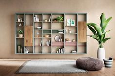 LAGO: Design your wall with LagoLinea . Wall Mounted Bookshelves, Wooden Bookcase, Wall Bookshelves, Bookshelf Design, Luxury Furniture, Furniture Design, Furniture Decor, Furniture Collection, Living Room Decor