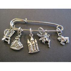 Sleeping Beauty - Silver Knitting Stitch Marker Set
