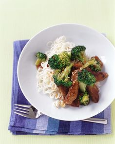 Beef and Broccoli Stir-Fry - Martha Stewart Recipes. Good weeknight meal. Next time I'll use low sodium soy sauce. Flavor was good but salty. -CPQ
