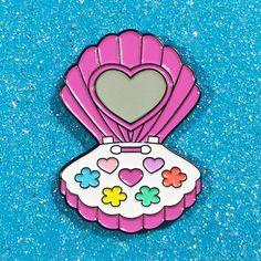 Mermaid Make-Up Pin by #CandyDollClub