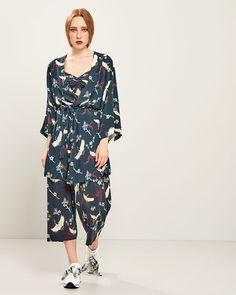 ΚΙΜΟΝΟ ALL OVER PRINT Kimono, Jumpsuit, Spring Summer, Collection, Dresses, Fashion, Overalls, Vestidos, Moda