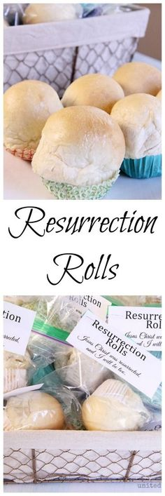 Resurrection Rolls recipe with Rhodes rolls or from scratch. This also includes a printable.