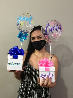 Diy Birthday Decorations, Balloon Decorations, Diy Crafts For Gifts, Crafts For Kids, Balloon Gift, Balloon Box, Balloon Arrangements, Diy Gift Box, Original Gifts