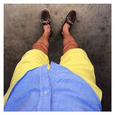 Blue, yellow, and Sperrys