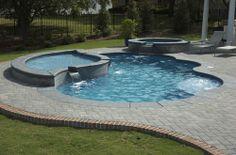 Inground Pool Designs | Pool Design, Custom Inground Pool Designs With Fiberglass: Inground ...