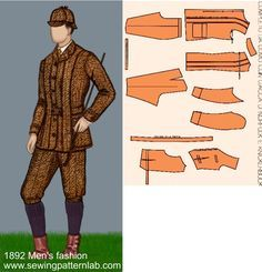 Costume Patterns, Dress Patterns, Print Patterns, Sewing Patterns, Historical Costume, Historical Clothing, 1890s Fashion, Vintage Fashion, Theatre Outfit