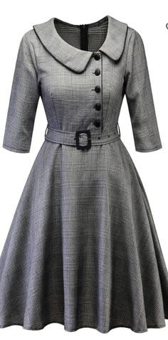 sweet vintage details on this cute retro check dress Kurti Back Neck Designs, Simple Kurti Designs, Dress Neck Designs, Kurta Designs, Blouse Designs, Collar Kurti Design, Kurta Neck Design, One Piece Dress Design, One Piece Dress Long