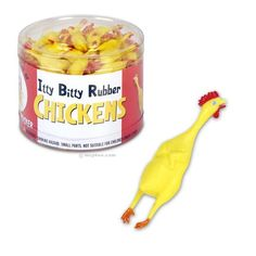Itty Bitty Rubber Chickens