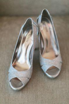 Silver Bridal Shoes   Meg Ruth Photo   Theknot.com