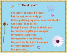 Baby Shower Thank You Poems From Unborn Baby