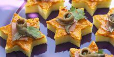 Etoiles de polenta à la poivronnade