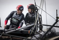 hrhduchesskate:  1851 Trust, Portsmouth, May 20, 2016-Sir Ben Ainslie and the Duchess of Cambridge sailing; Catherine took the helm of the team's sailboat for half an hour
