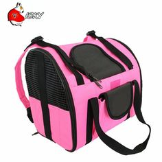 Visky Pet Carrier 2 in 1 Hang Bag Soft-sided Travel Backpack for Cats and Puppy -- Pink -- Click image to review more details. (This is an affiliate link and I receive a commission for the sales)
