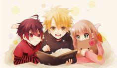 Image via We Heart It https://weheartit.com/entry/57005675/via/20864815 #adorable #anime #book #child #cute #friends #heroine #shin #shojo #toma #amnesia